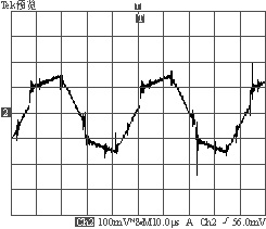 35A负载时变压器原边电流波形