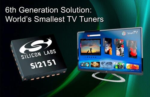 Silicon Labs公司推出业界领先的第六代硅电视调谐器