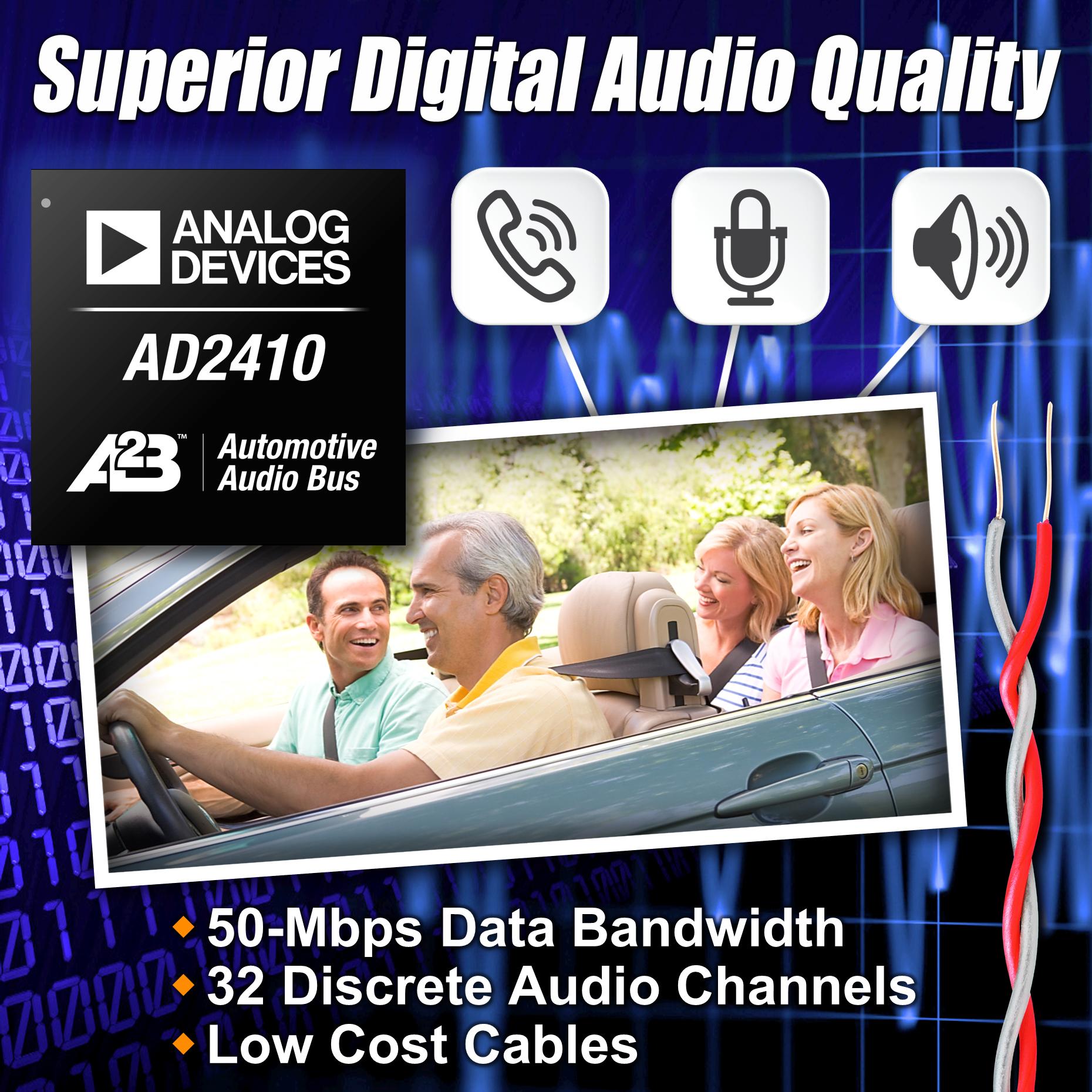 汽车电子总线技术实现出色的数字音频质量