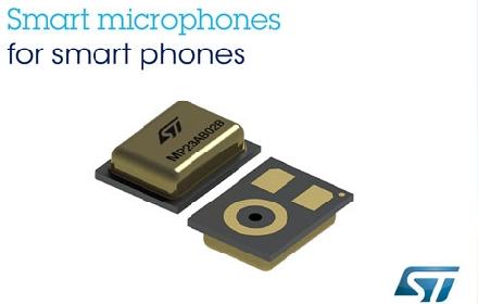 ST先进的MEMS麦克风,帮助提升手机在嘈杂环境中的通话清晰度