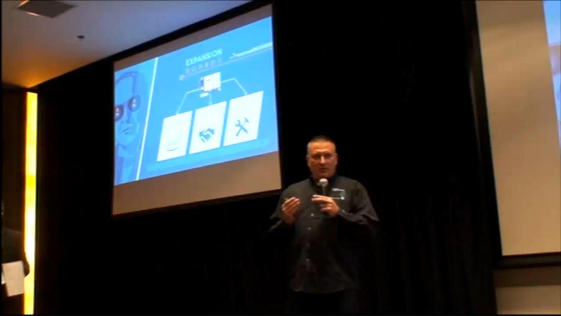 Edison中国首秀:Edison平台创客Jim Chase演讲