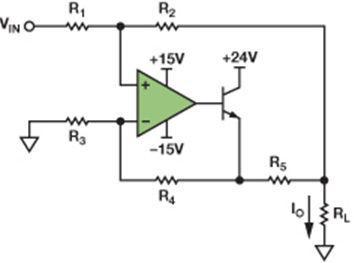 如何选择外部电阻减少接地负载电流源误差