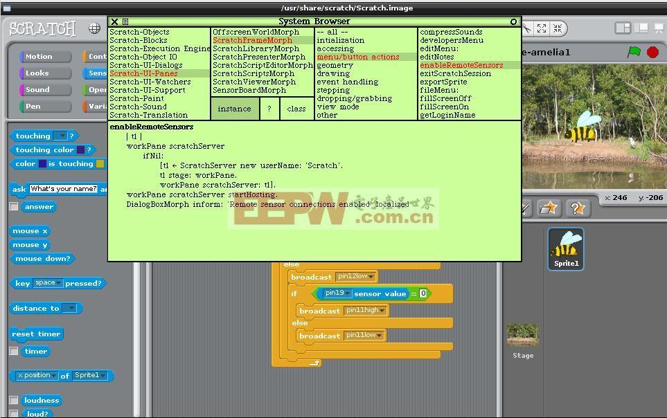 用树莓派控制小蜜蜂之自动全屏运行Scratch程序