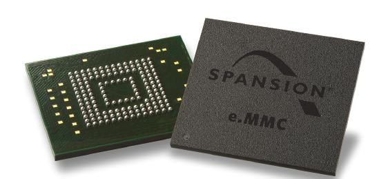 Spansion面向嵌入式市场推出新型工业级e.MMC NAND闪存产品