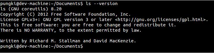打印ls命令版本