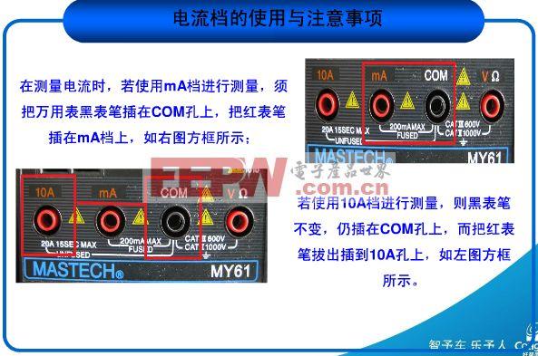 万用表使用方法图解——电流档的使用与注意事项(2)