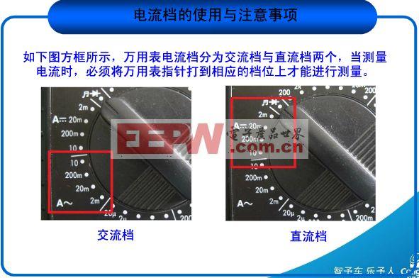 万用表使用方法图解——电流档的使用与注意事项(1)