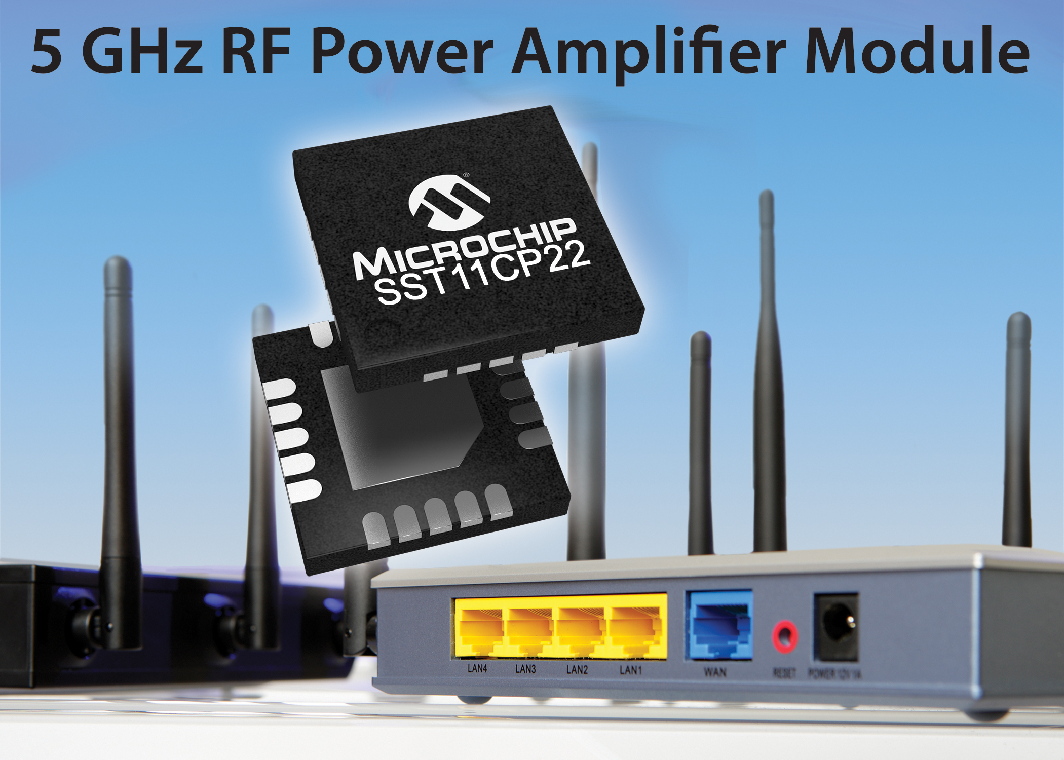 Microchip推出基于IEEE 802.11ac Wi-Fi标准的全新5 GHz功率放大器模块