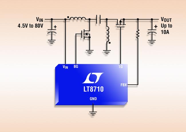 具有 3 个调节环路的 80V 同步 SEPIC / 负输出 / 升压型控制器 IC
