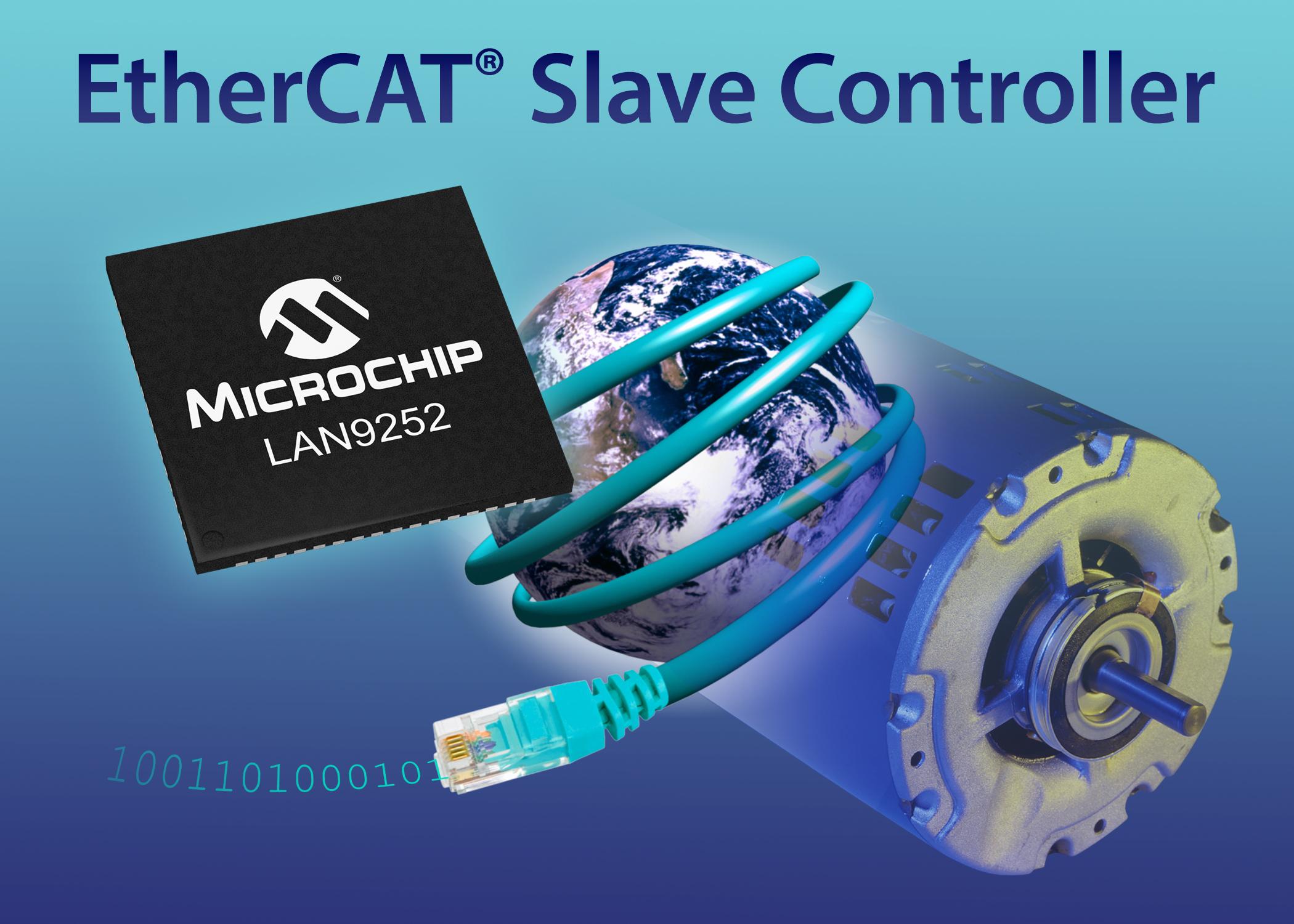 Microchip推出集成PHY的新型EtherCAT從屬控制器,助力工業以太網與物聯網應用
