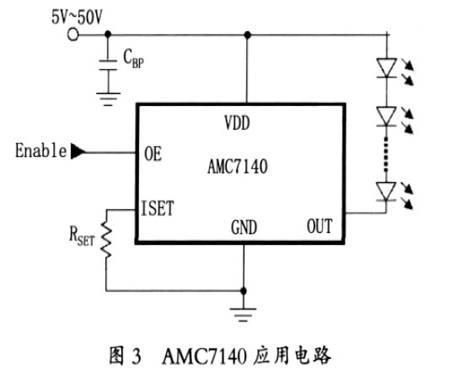 图3 AMC7140应用电路