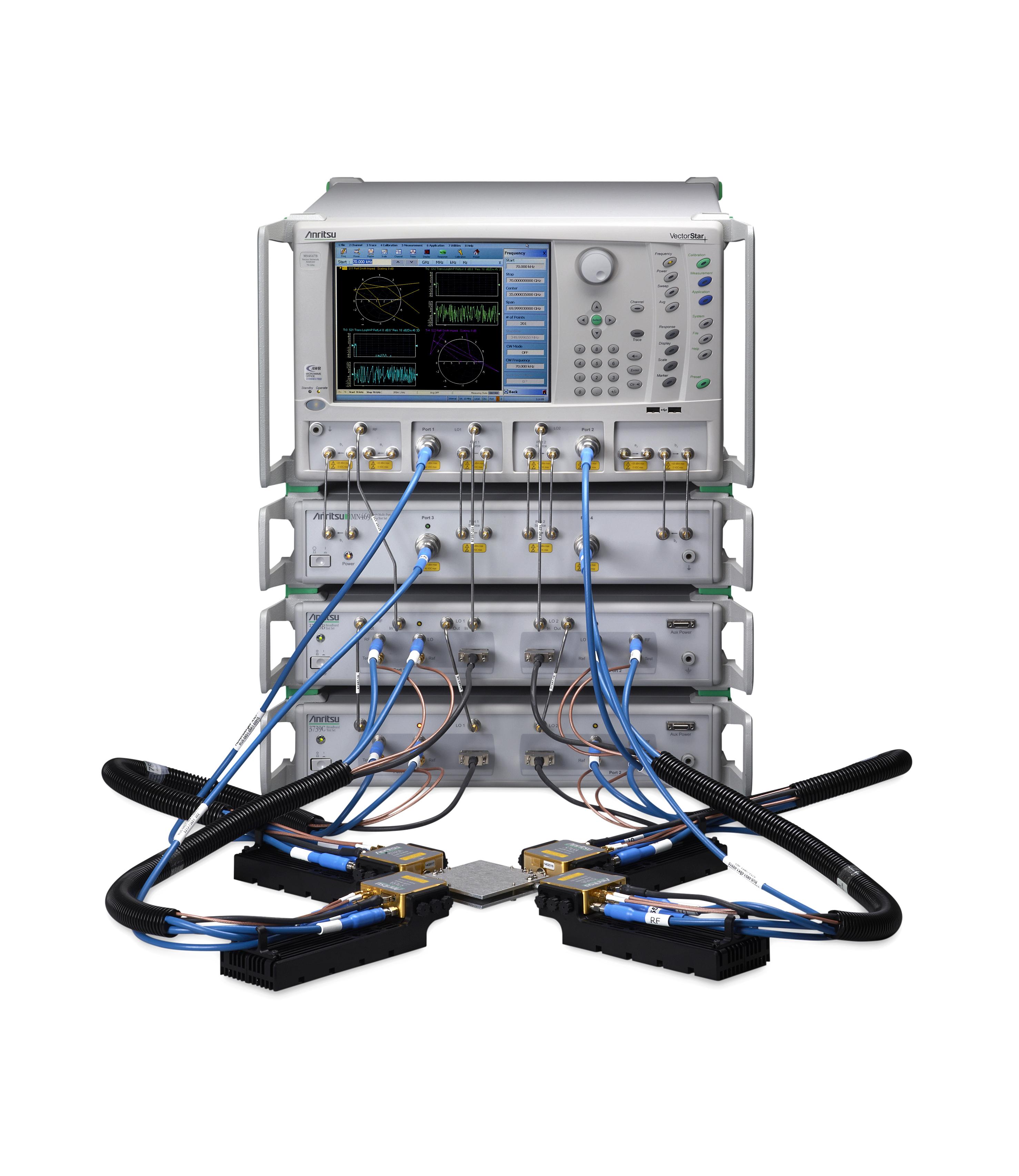安立公司推出业内频率范围最宽(从 70 kHz 到 110 GHz)的 4 端口宽频 VNA 系统