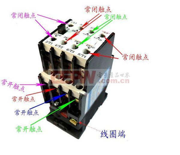交流接触器工作原理图片