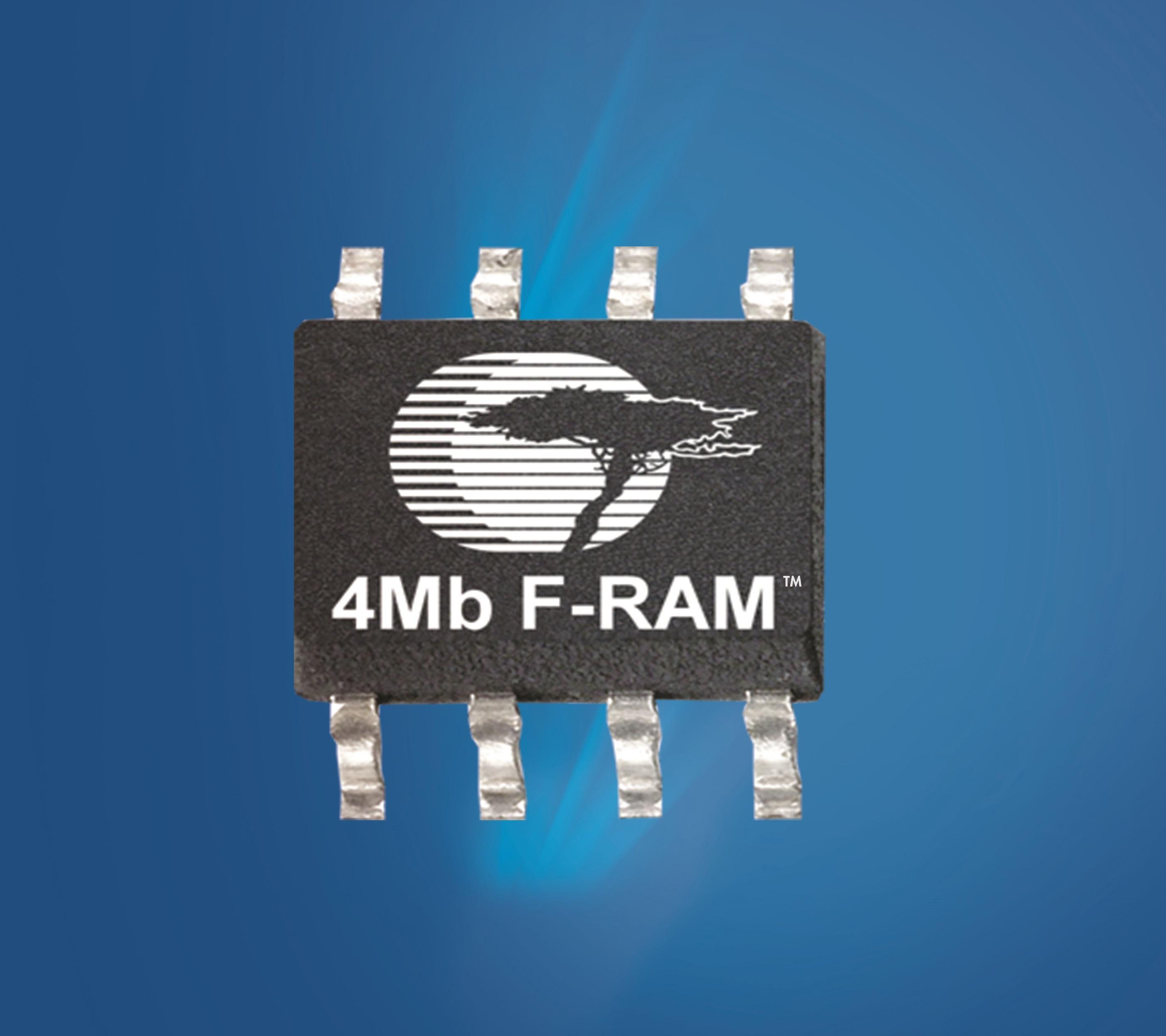 赛普拉斯推出业界首款4Mb 串行F-RAM