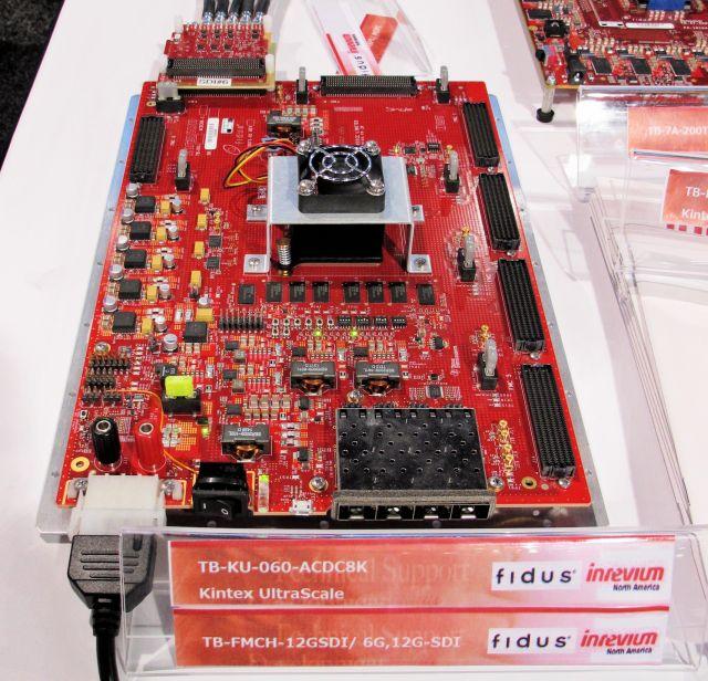 基于Kintex UltraScale FPGA含有7个FMC连接器的大型4K/8K硬件视频开发平台