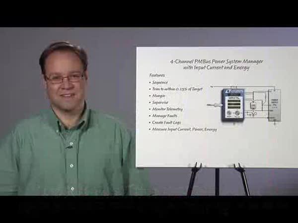具输入能量监视功能的四通道 PMBus 电源系统管理器用于实现全面的电源系统管理