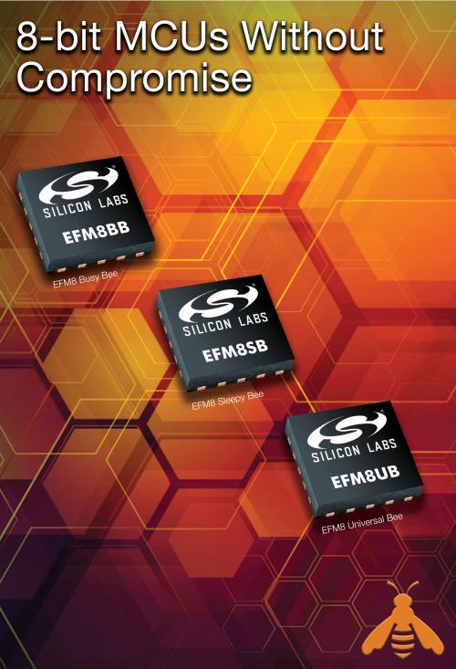 Silicon Labs推出新一代8位EFM8 MCU系列产品