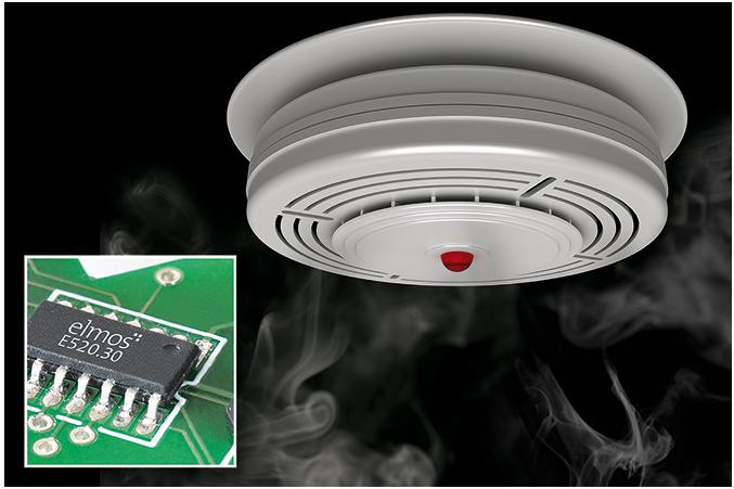 elmos可编程烟雾探测器芯片E520.30