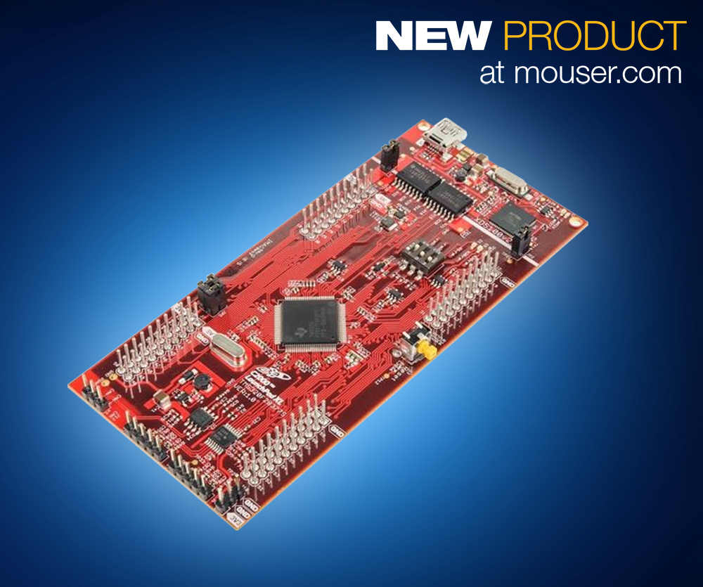 Mouser 推出TI C2000 Delfino微控制器LaunchPad套件 輕松實現低成本、高性能數字控制設計