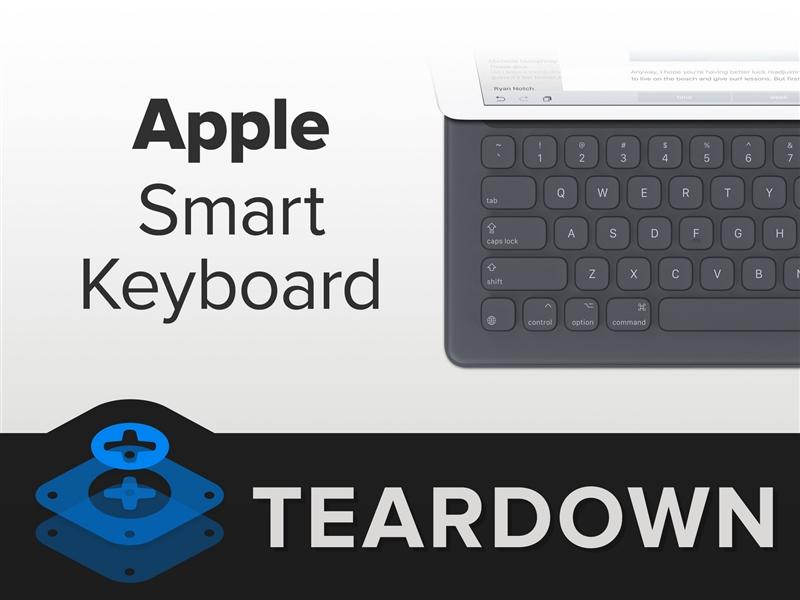 1288元iPad Pro键盘拆解 拆完就不能用了