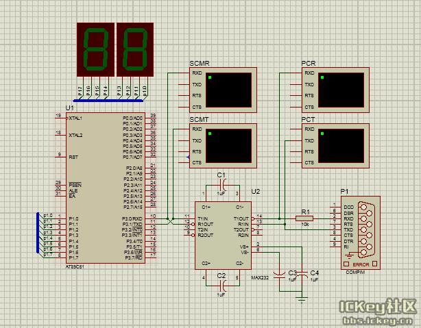 【Proteus学习之路】序列之10:汇编—AT89C51与PC机串口通信