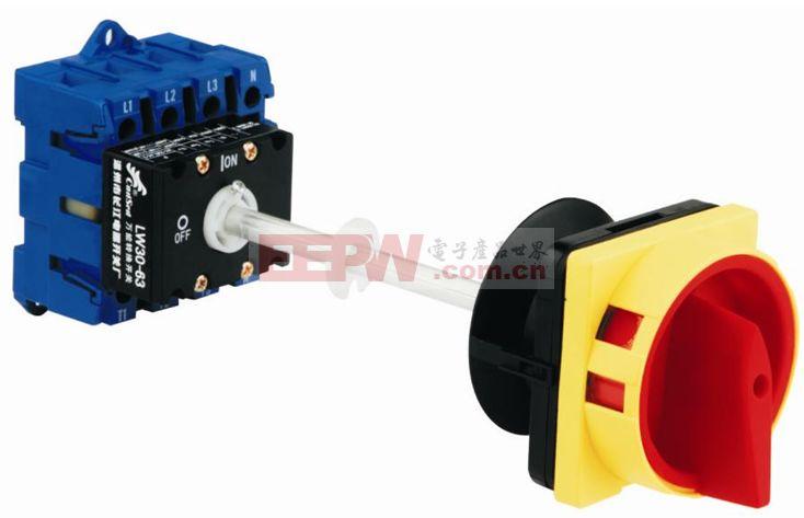 转换开关的接触系统是由数个装嵌在绝缘壳体内的静触头座和可动支架中的动触头构成。动触头是双断点对接式的触桥,在附有手柄的转轴上,随转轴旋至不同位置使电路接通或断开。转换开关可以按线路的要求组成不同接法的开关,以适应不同电路的要求。在控制和测量系统中,采用转换开关可进行电路的转换。