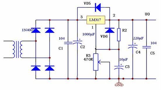 利用LM317制作一个1.5V的可调节电源