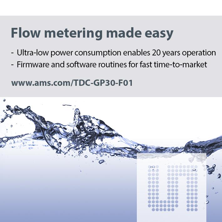艾迈斯半导体推出应用于超声波水流量计量的完整单芯片硬件及软件