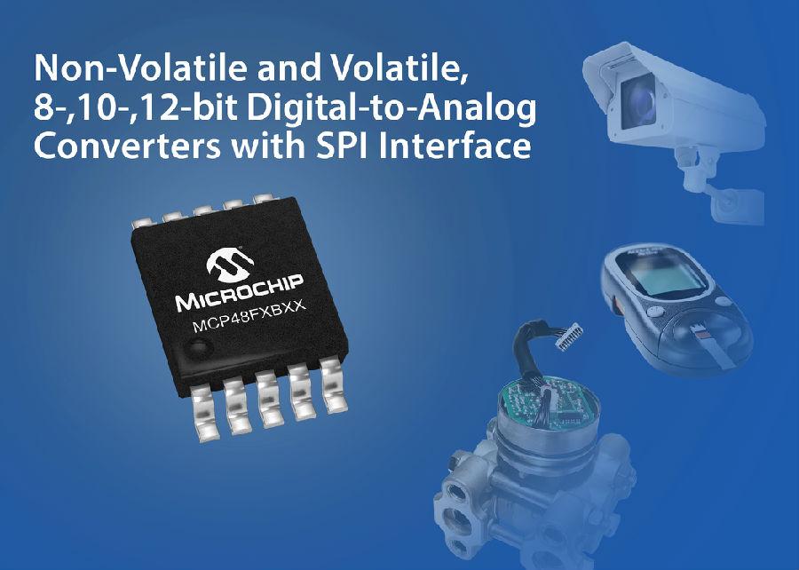 Microchip新型数模转换器集成EEPROM,可在掉电时保留设置
