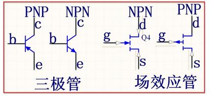 关于NPN和PNP三极管的简单判断