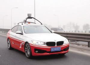 百度的无人驾驶汽车 百度王劲 人工智能将中国推向无人驾高清图片