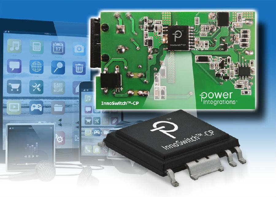 Power Integrations公司的InnoSwitch-CP IC可显著改善智能移动设备的充电性能