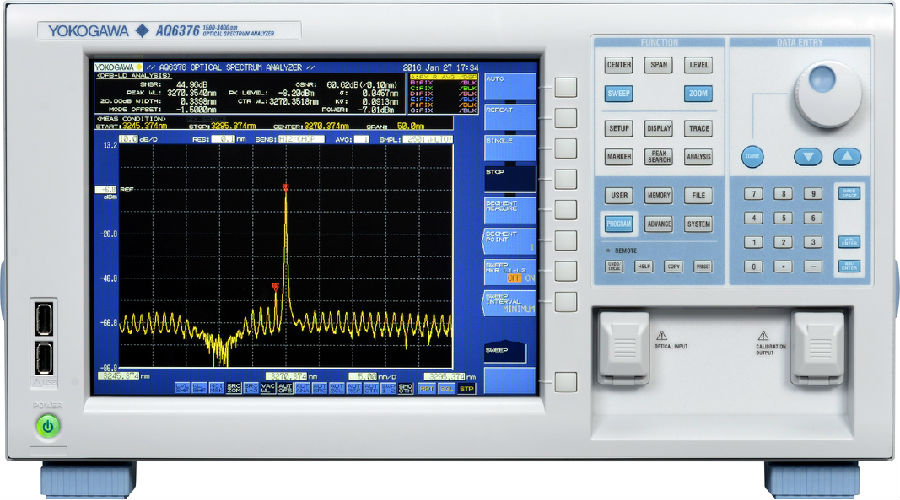 横河发布AQ6376 光谱分析仪