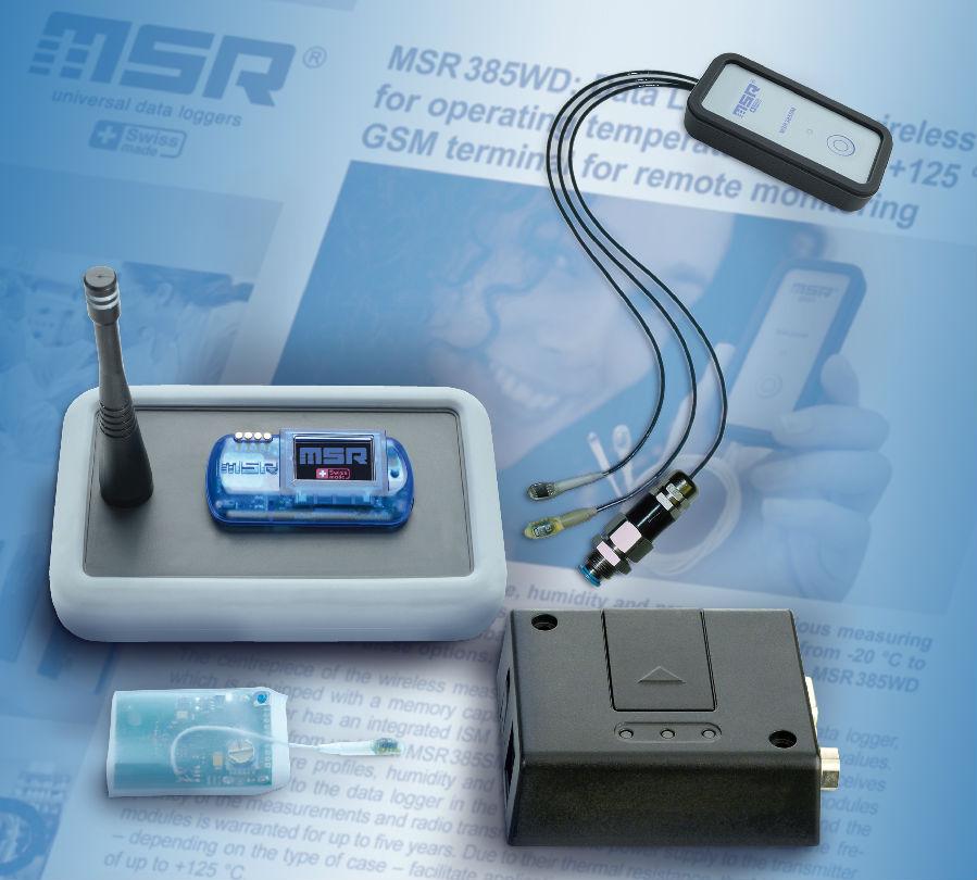瑞士MSR公司推出全新一代MSR385WD无线数据记录仪