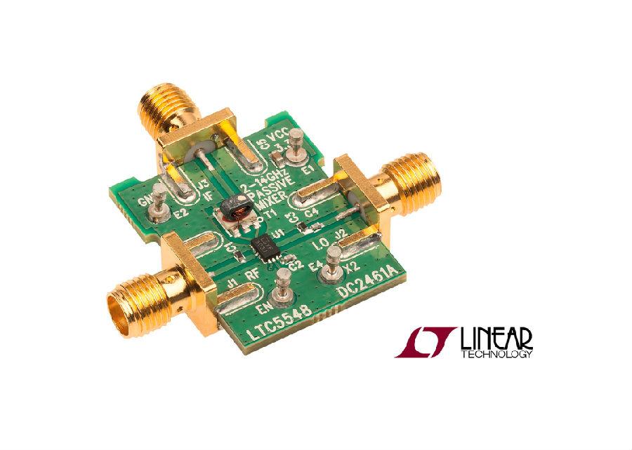 集成了LO频率倍增器的宽带2GHz至14GHz混频器提供从DC至6GHz 的IF带宽