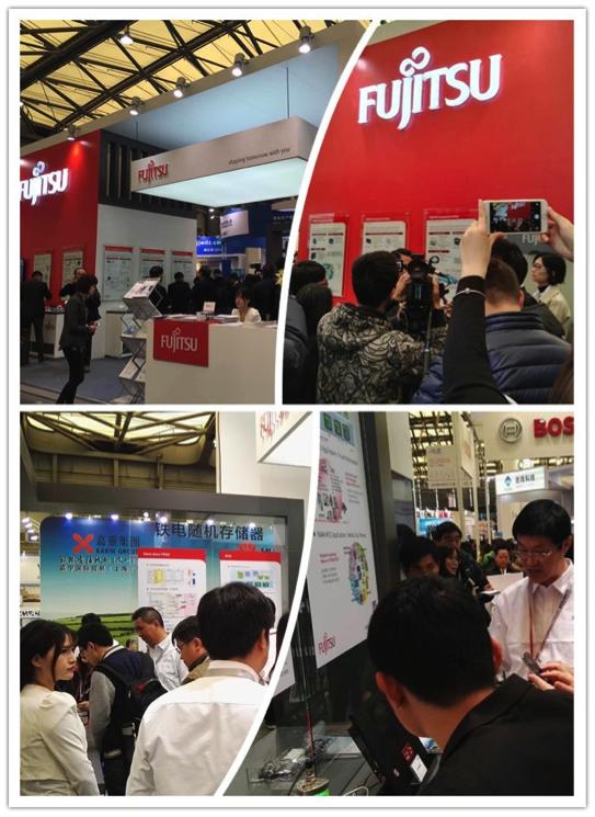 """""""图2.富士通电子更名后首次亮相中国业界大展。"""""""