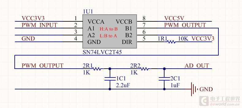 基于PWM的DA转换电路