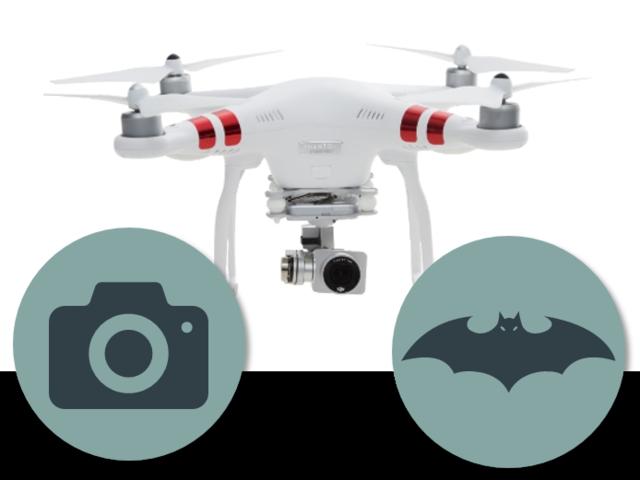 四旋翼飞行器的高级相机与红外线测距装置