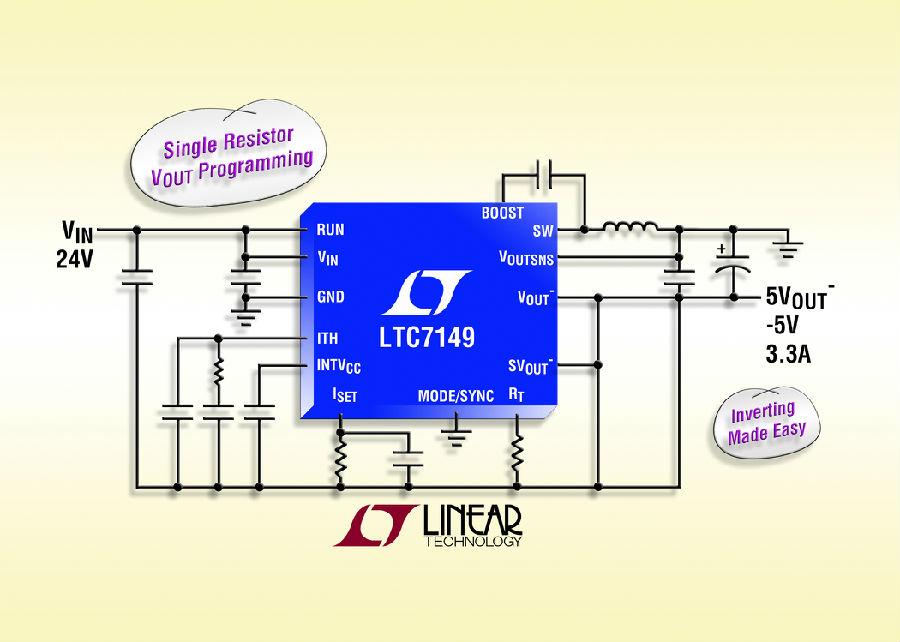 用于提供负输出的 60V、4A 同步降压型稳压器