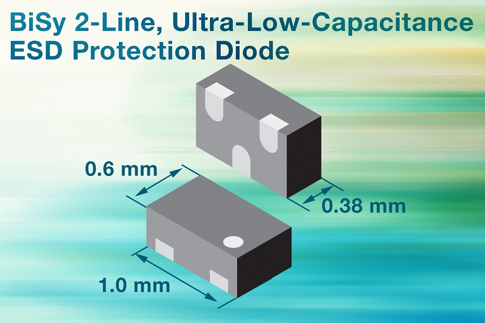 Vishay新的BiSy两线超低电容ESD保护二极管为高速数据线提供安全保障