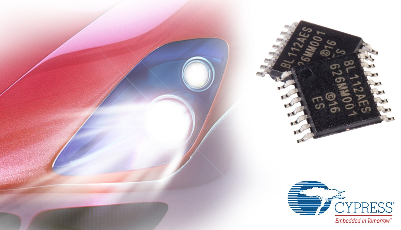 全新赛普拉斯汽车LED驱动器性能强大,并最大程度减少头灯系统物料清单