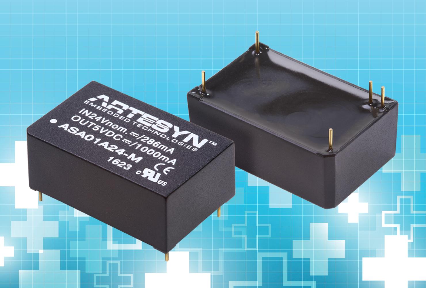 雅特生科技推出符合医疗设备安全规定的全新6W直流/直流电源转换器系列