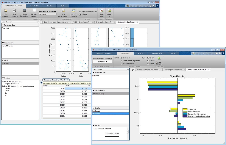 Simulink新增用于支持设计空间探索的灵敏度分析工具