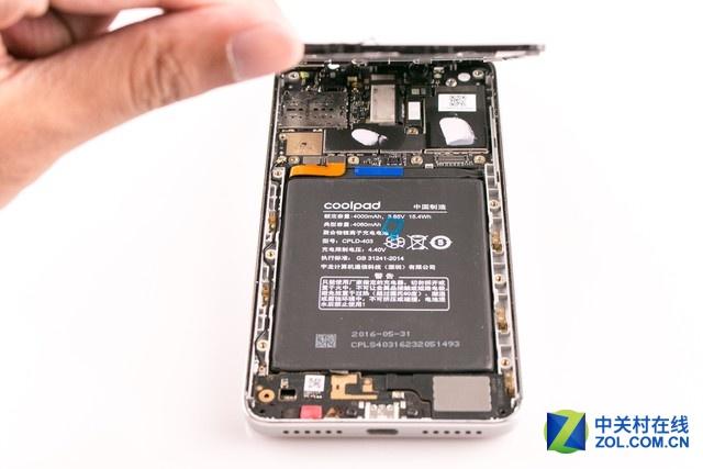骁龙652配超大电池 酷派cool1拆解图赏