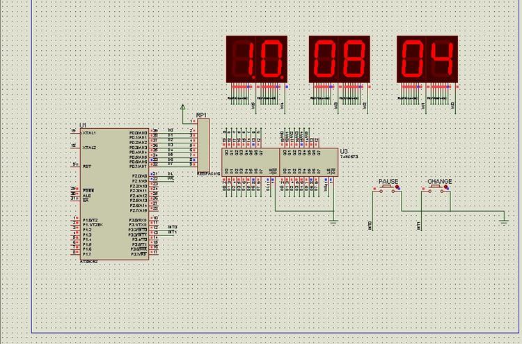 基于8051和Proteus的数字时钟 程序的编写和仿真