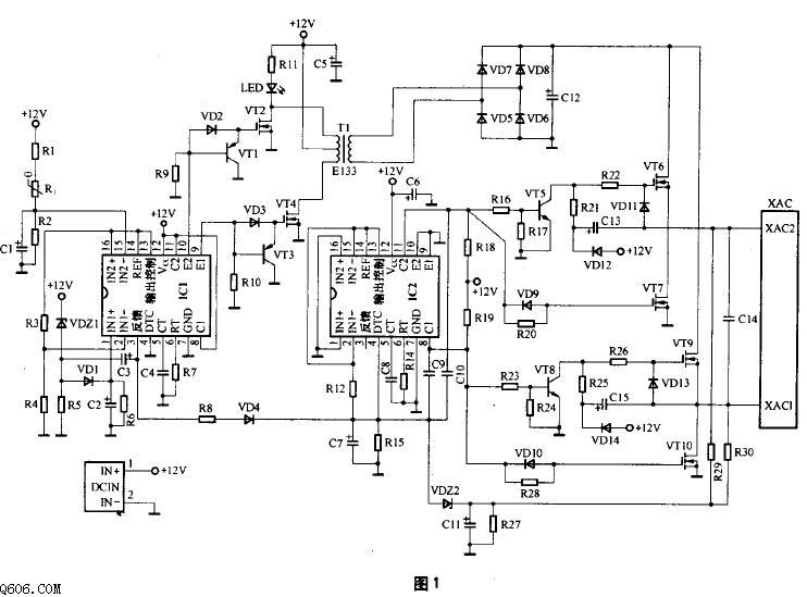 一款常见车载逆变器电路图及原理