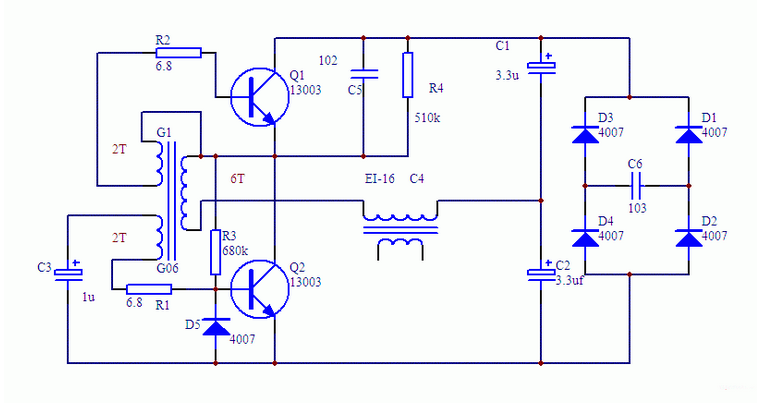 节能家用小型霓虹灯电路设计