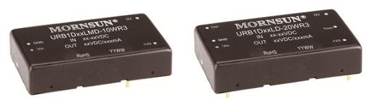 URB1D-LMD-10/15/20WR3、URB1D-LD-20WR3系列超宽电压输入隔离稳压铁路电源