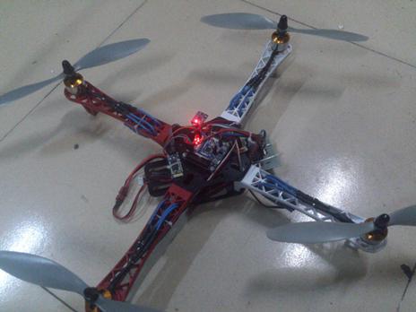 四旋翼飞行器的飞控实现