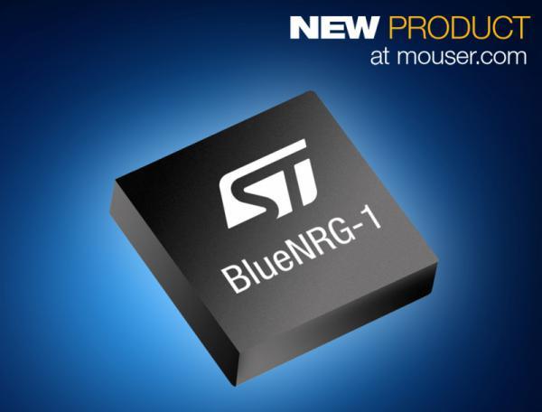 贸泽供货ST首款性能强劲的 BlueNRG-1 蓝牙低能耗SoC